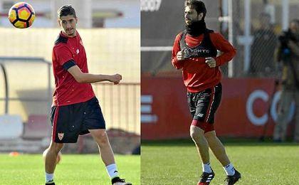 Pareja y Escudero no entrenan con el grupo y son duda para Las Palmas