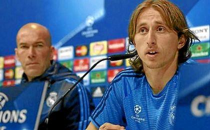 Modric analiza el partido de Champions ante el Nápoles.