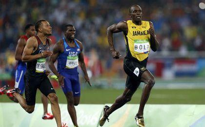 Usain Bolt, en las semifinales masculinas 200 metros de los JJ.OO. de Río. UESyndication.