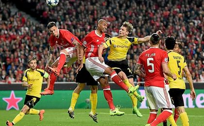 Imagen del Benfica-Dortmund.