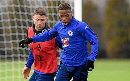 Musonda, en un entrenamiento con el Chelsea.