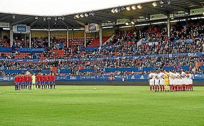 Imagen del partido entre Osasuna y Sevilla.