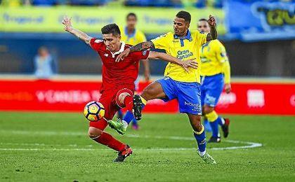 El Sevilla tuvo menos posesión de la habitual contra Las Palmas pero se apuntó la victoria.