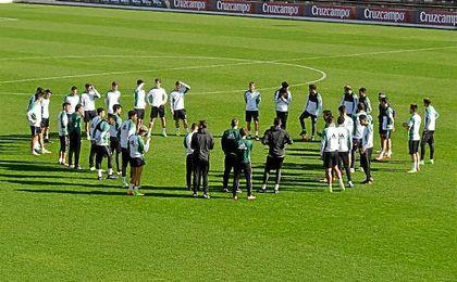 El Betis, en un entrenamiento.