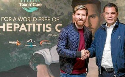 Lionel Messi viaja a Egipto para apoyar el tratamiento de la hepatitis.