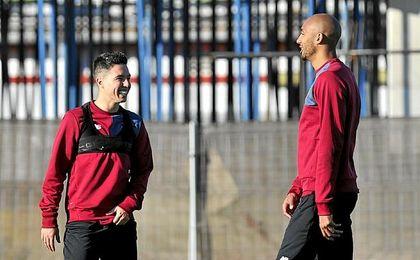 Nasri no ha dejado de sonreír desde que llegó al Sevilla.
