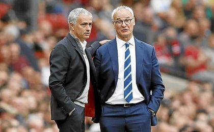 Mourinho y Ranieri.