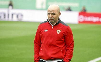 """Sampaoli destaca la """"doble alegría"""" por ganar 'El Gran Derbi' y """"seguir arriba"""""""