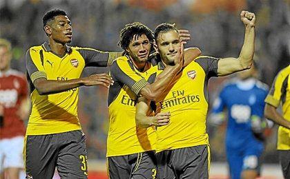 Pese a tener pocos minutos en el Arsenal, Lucas Pérez ha firmado siete goles.