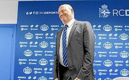 Pepe Mel, durante su presentación con el Deportivo.