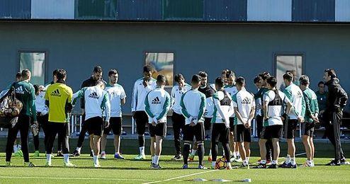 Imagen del entrenamiento del Betis.