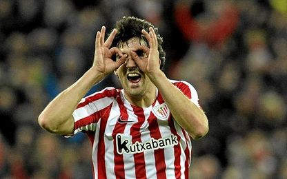 El jugador del Athletic se ha mojado.