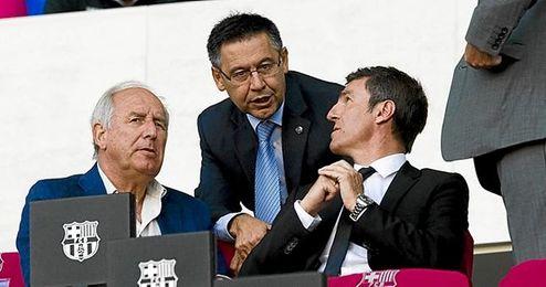 Robert y Valverde coincidieron como jugadores del Barça.