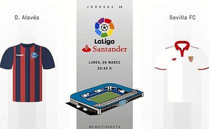 Sigue aquí el Alavés-Sevilla en directo