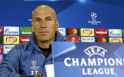 Zidane satisfecho con el partido del Madrid.