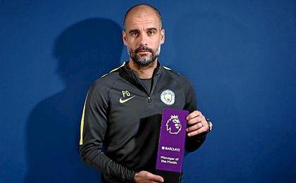 Guardiola mejor entrenador del mes de febrero.