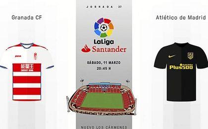 El Atlético vence en Los Cármenes (0-1) y se sitúa a cinco del Sevilla