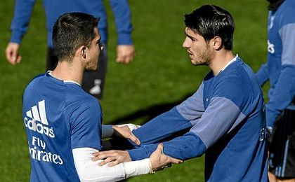 Morata da el susto en el entrenamiento pero puede jugar ante el Betis
