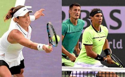 """Muguruza disfrutó de una """"gran victoria""""; Nadal debutó con buen pie en dobles"""