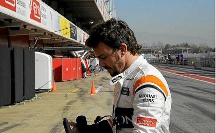 Alonso se muestra feliz por recuperar sensaciones
