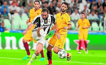 El Sevilla empató a cero contra la Juventus en Turín.