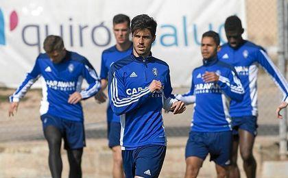 Imagen del entrenamiento del Zaragoza.