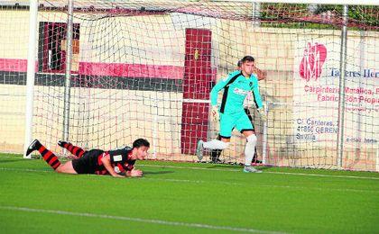 El guardameta Luisma estará de baja en el Gerena las próximas semanas por lesión.