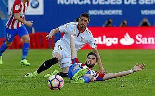 Atlético 3-1 Sevilla F.C.: Demasiados resbalones en Liga