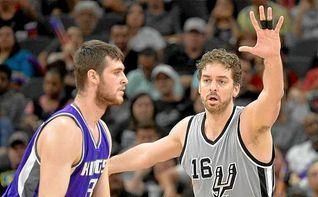 Pau Gasol guía a los Spurs y el ´doble-doble´ de Ricky Rubio no evita la derrota de los Wolves