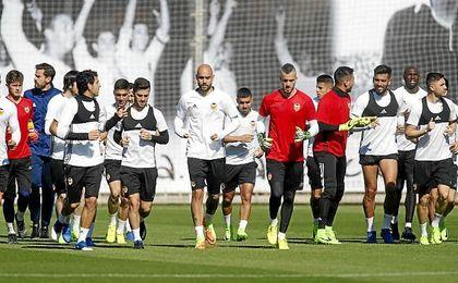 Novedades en el entrenamiento del Valencia
