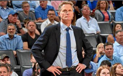 El entrenador de los Golden State Warriors, Steve Kerr.