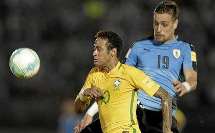 Neymar fue la estrella de Brasil una vez más.