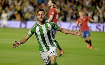 Rafa Navarro rindió a gran nivel frente a Osasuna.