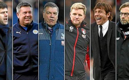 Los nominados a entrenador del mes en la Premier.