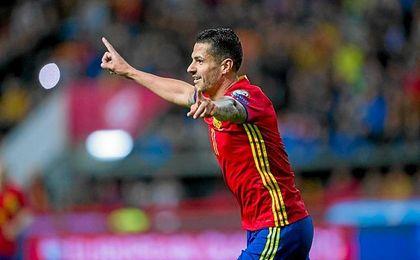 Vitolo no para de marcar goles con España.