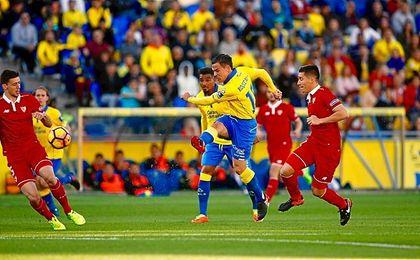 Roque Mesa, en el Las Palmas-Sevilla de esta temporada.