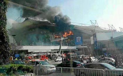 Incendio en el estadio del Shanghai Shenhua