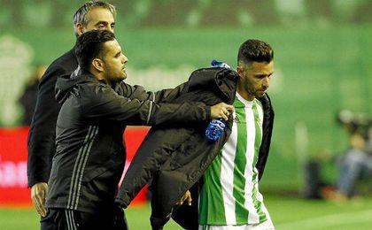 Rubén ya salió contrariado en el partido contra Osasuna.