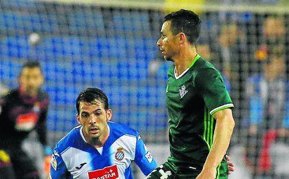Rubén Castro marcó el 0-1 contra el Espanyol en Cornellà.