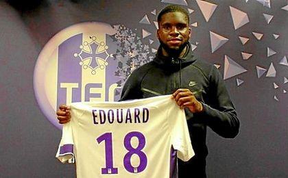 Edouard en su presentación con el Toulouse.
