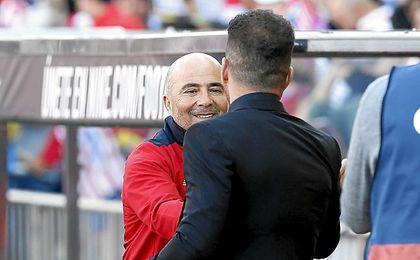 Sampaoli y Simeone, dos eternos candidatos a entrenar a Argentina.