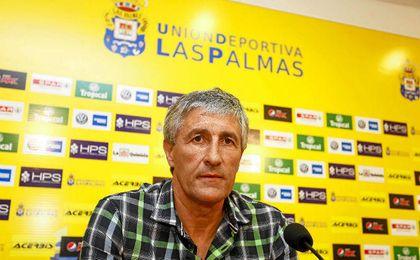 Setién se siente señalado desde que decidió su marcha de Las Palmas.
