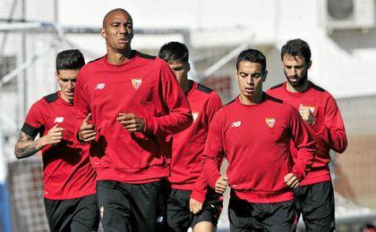 Los titulares contra el Leganés se ejercitaron a menor ritmo.