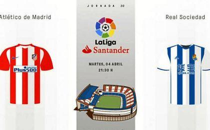 Atlético-Real Sociedad, en directo