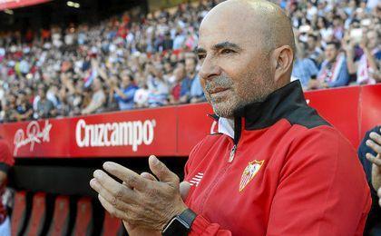 Sampaoli se mostró satisfecho por la evolución de su equipo.