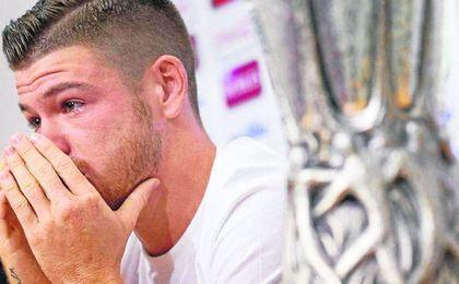 Alberto Moreno dejó el Sevilla, entre lágrimas, en el verano de 2014.