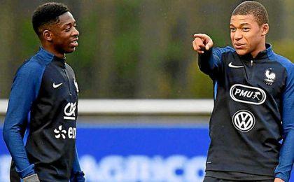 Mbappé y Dembélé marcaron en Champions.