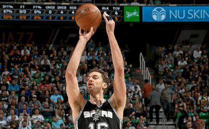 Gasol también es el mejor triplista de la NBA.