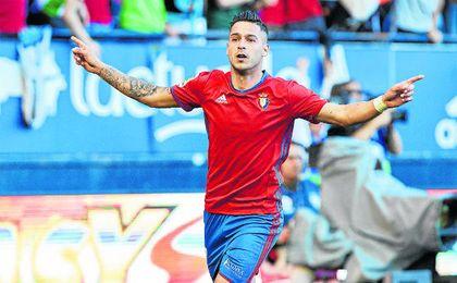 Sergio León lleva 10 goles en 27 partidos con Osasuna.