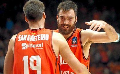 El Valencia Basket volvió a saborear las mieles del triunfo.